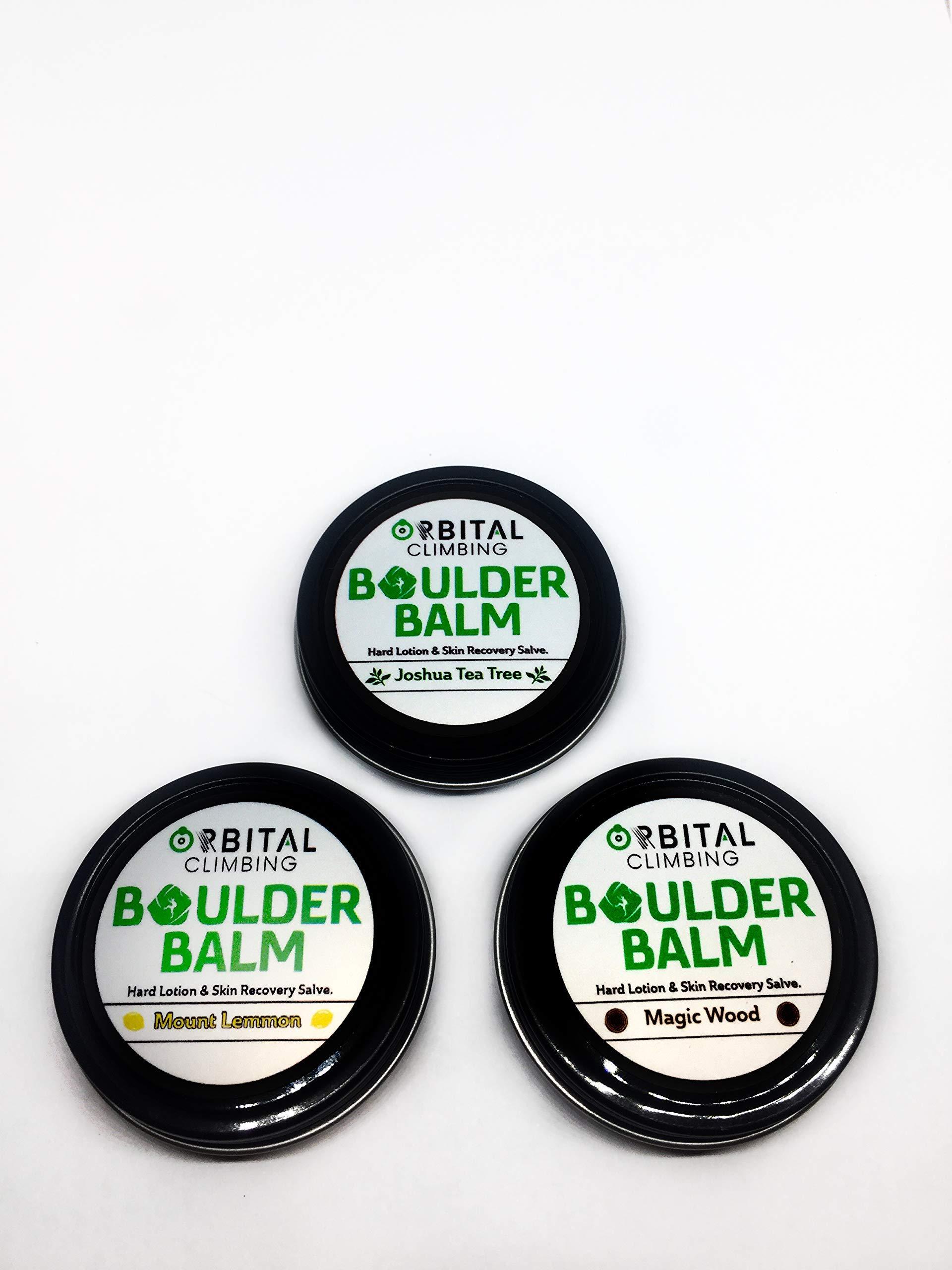 Boulder Balm: Hard Lotion Skin Recovery Salve 3 Pack! (Joshua Tea Tree, Mount Lemmon, Magic Wood Scent)
