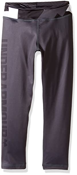 d3c9b0756029a7 Under Armour Girls' Mix Master Capris, Stealth Gray /Black, Youth Small