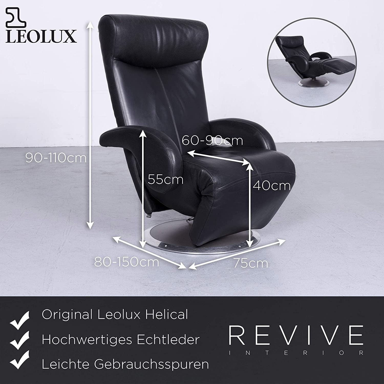 Leolux Helical Design Fauteuil.Leolux Helical Designer Leder Sessel Schwarz Echtleder Funktion