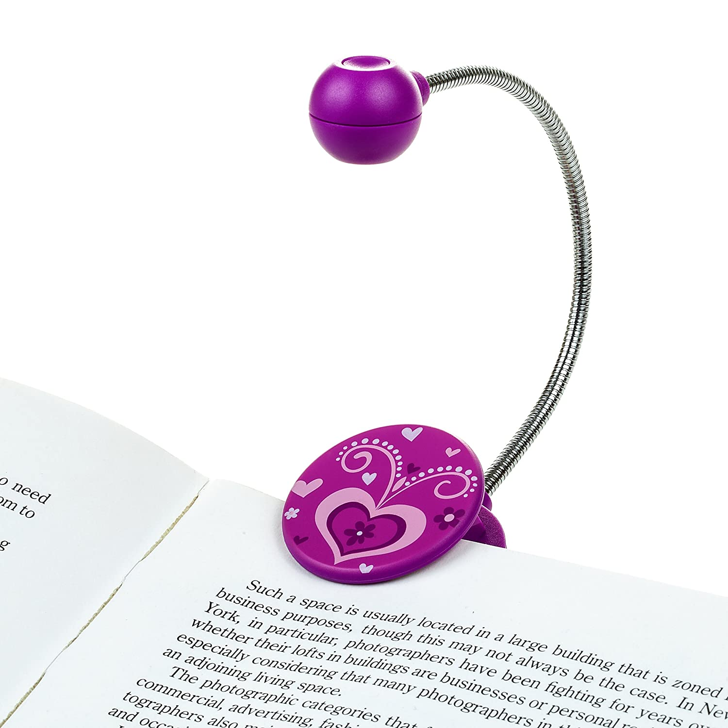disc led reading light by withit purple led book light with