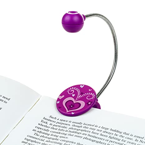 Amazon Book Light Enchanting Disc LED Reading Light By WITHit Purple LED Book Light With