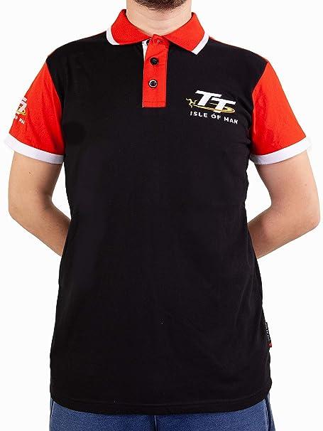 Mondocorse Polo TT Negro-Rojo Hombre: Amazon.es: Ropa y accesorios