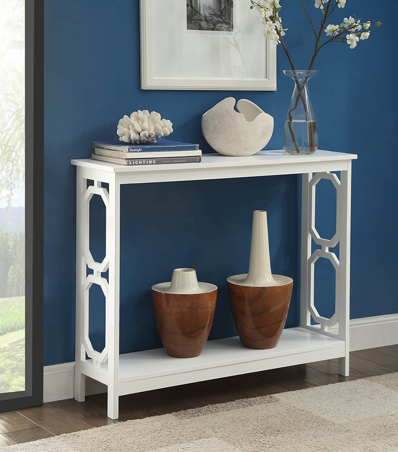 Amazoncom Convenience Concepts Omega Console Table White Kitchen