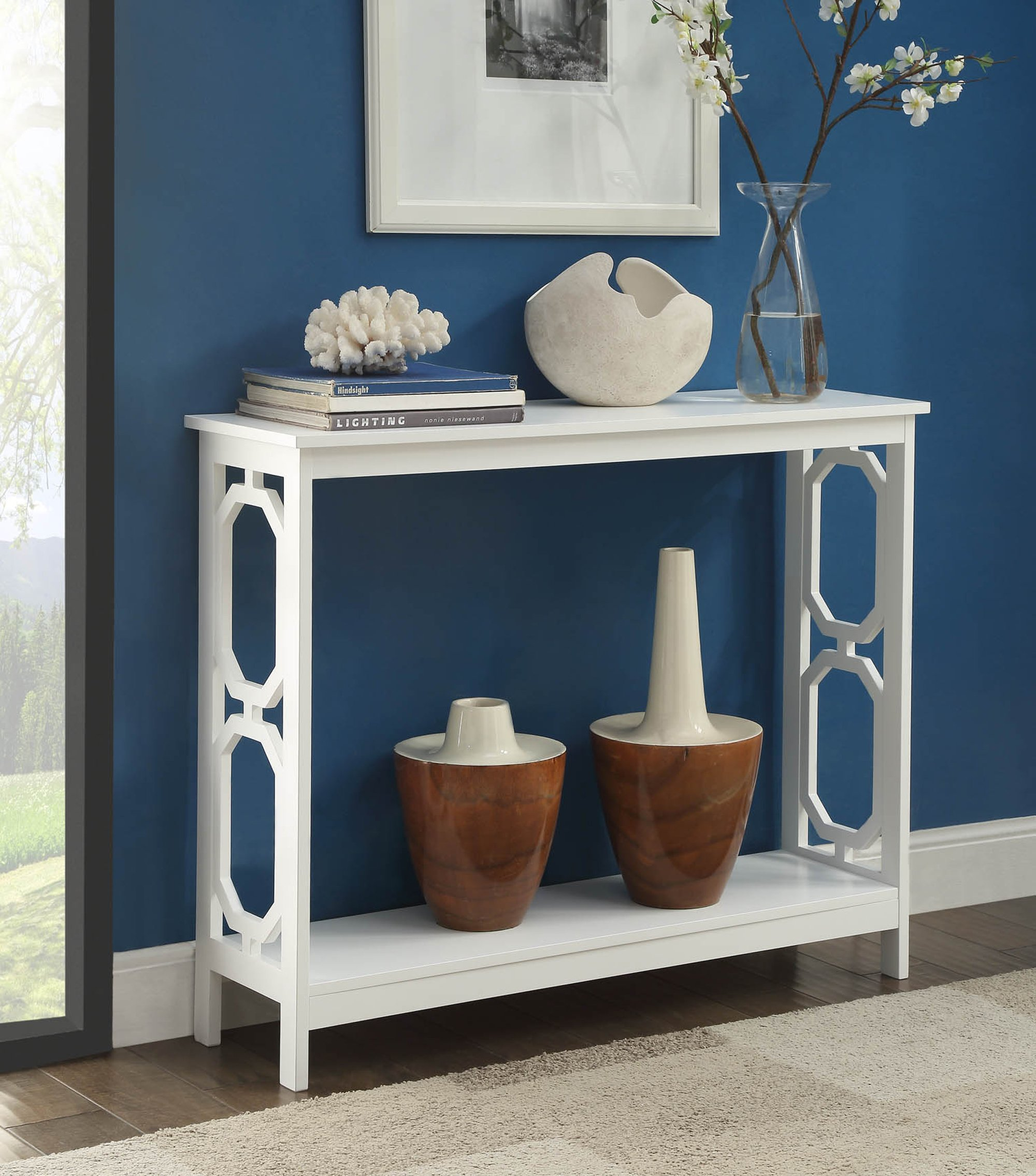 Convenience Concepts Omega Console Table, White by Convenience Concepts (Image #3)