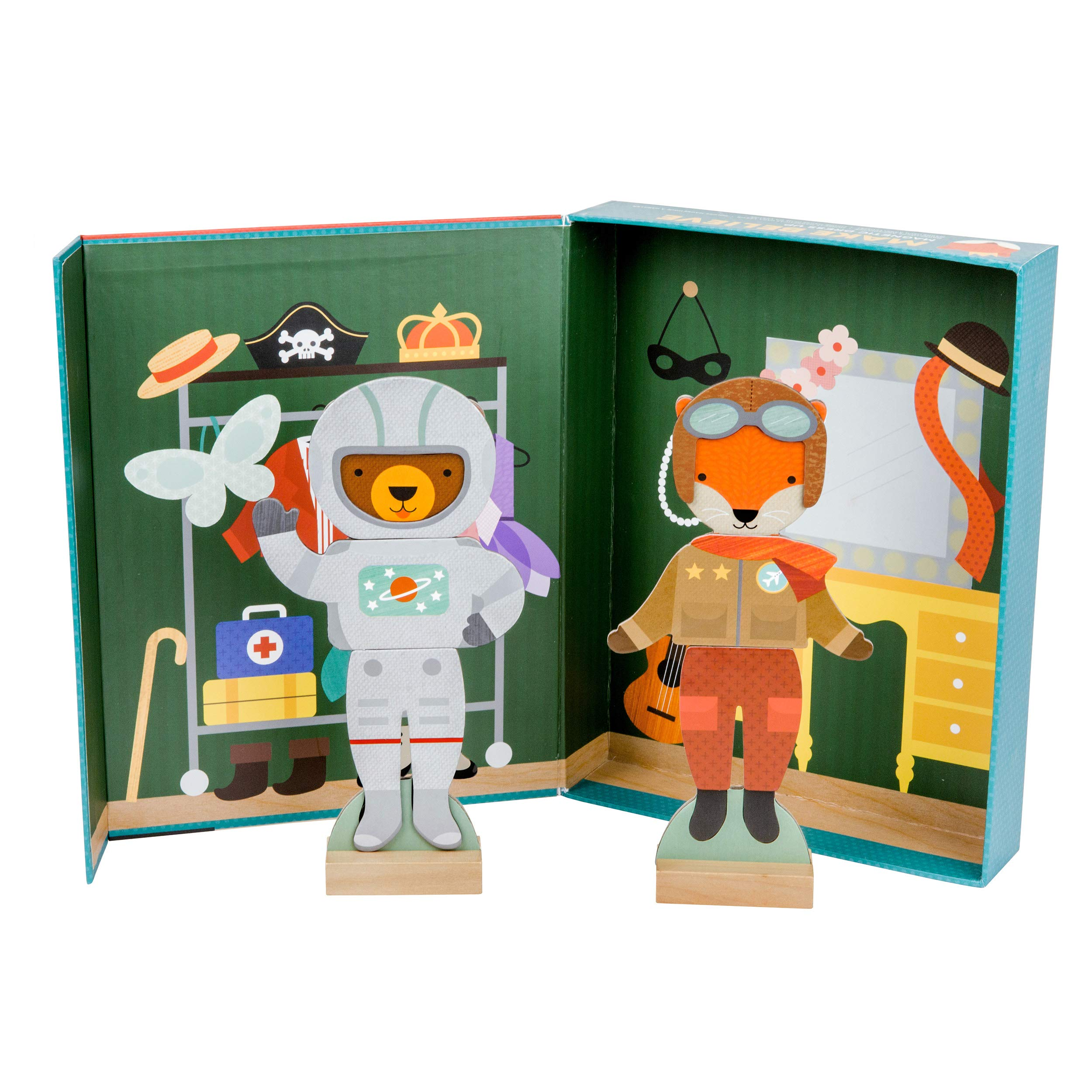Petit Collage Make Believe Animal Costume Magnetic Dress Up Box