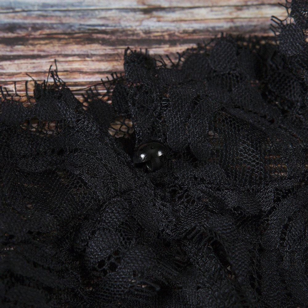 Women Tank Tops Sleeveless Lace Splice V-Neck Bra Vest T-Shirt Crop Blouse (M, Black) by Yihaojia Women Blouse (Image #7)