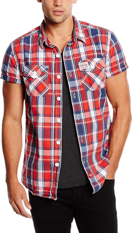 Superdry Camisa Hombre Rojo/Azul/Blanco M: Amazon.es: Ropa y accesorios
