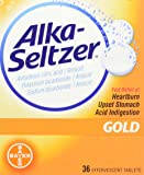Alka-Seltzer Effervescent Gold - 36 Tablets, Pack of 2