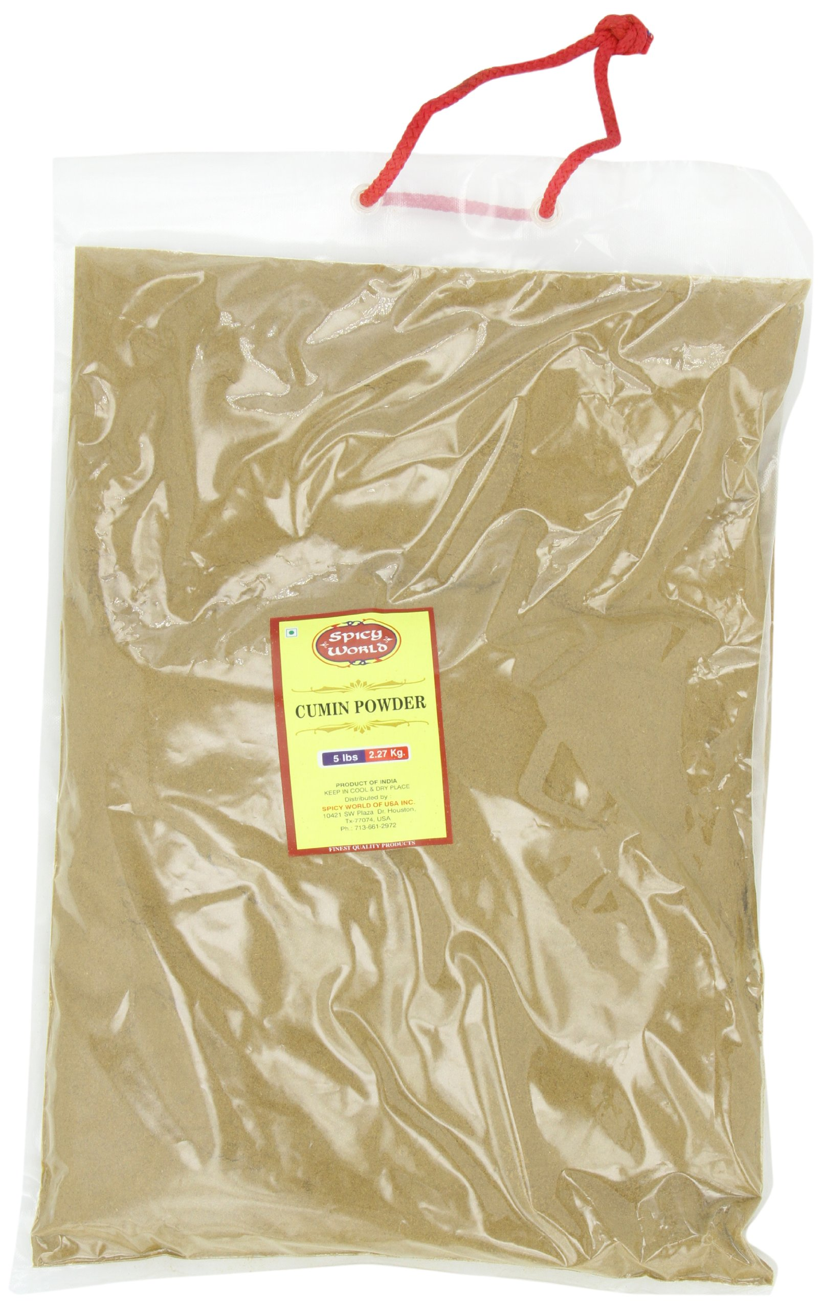 Spicy World Ground Cumin Powder Bulk, 5-Pounds