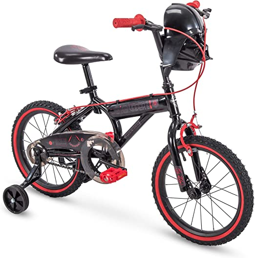 Used Huffy Star Wars Darth Vader 12 Inch Toddler Bike with Training Wheels