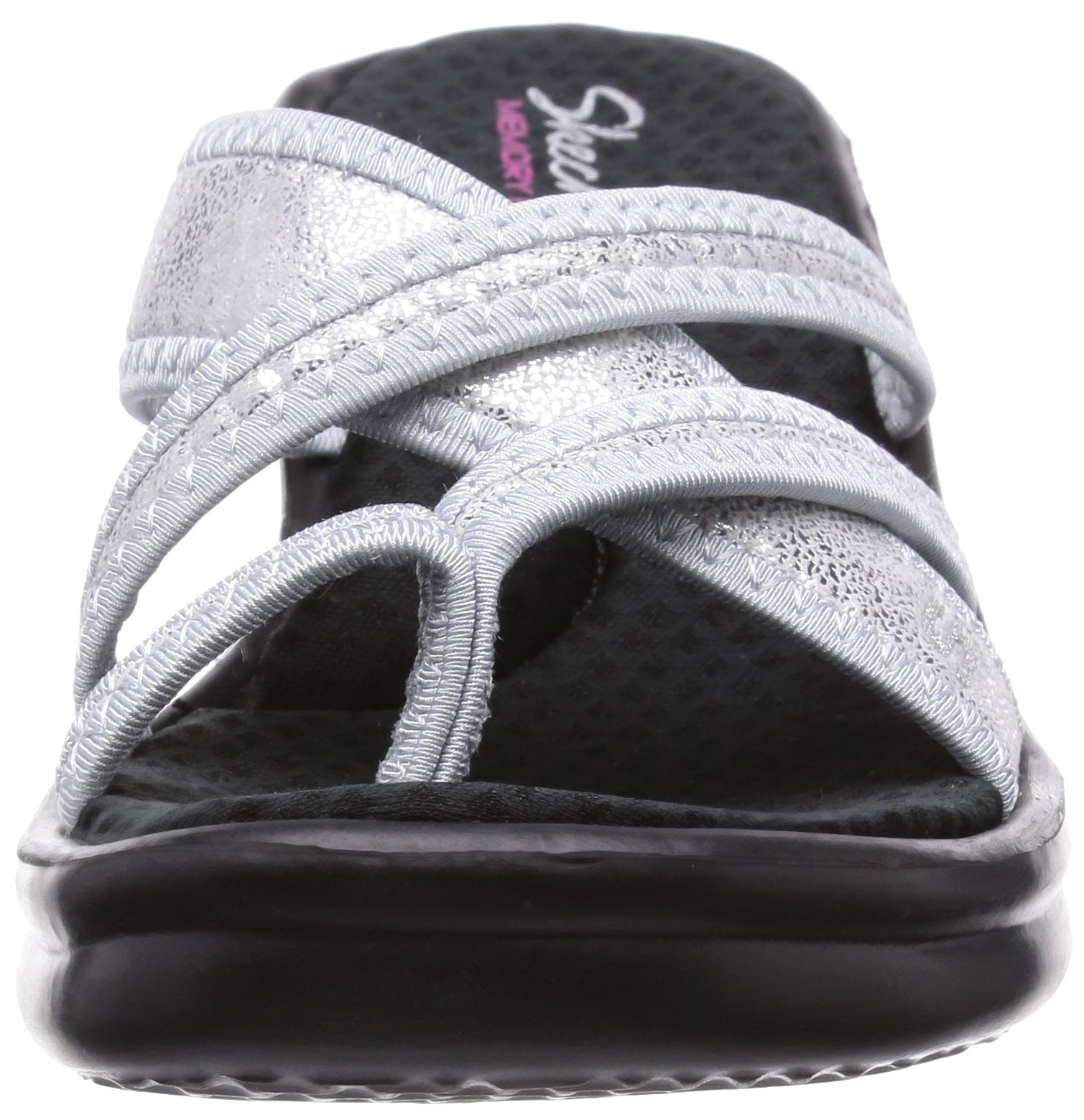 Skechers Cali Women's Rumblers-Young at Heart Wedge Sandal,Silver Sparkle,7 M US by Skechers (Image #4)