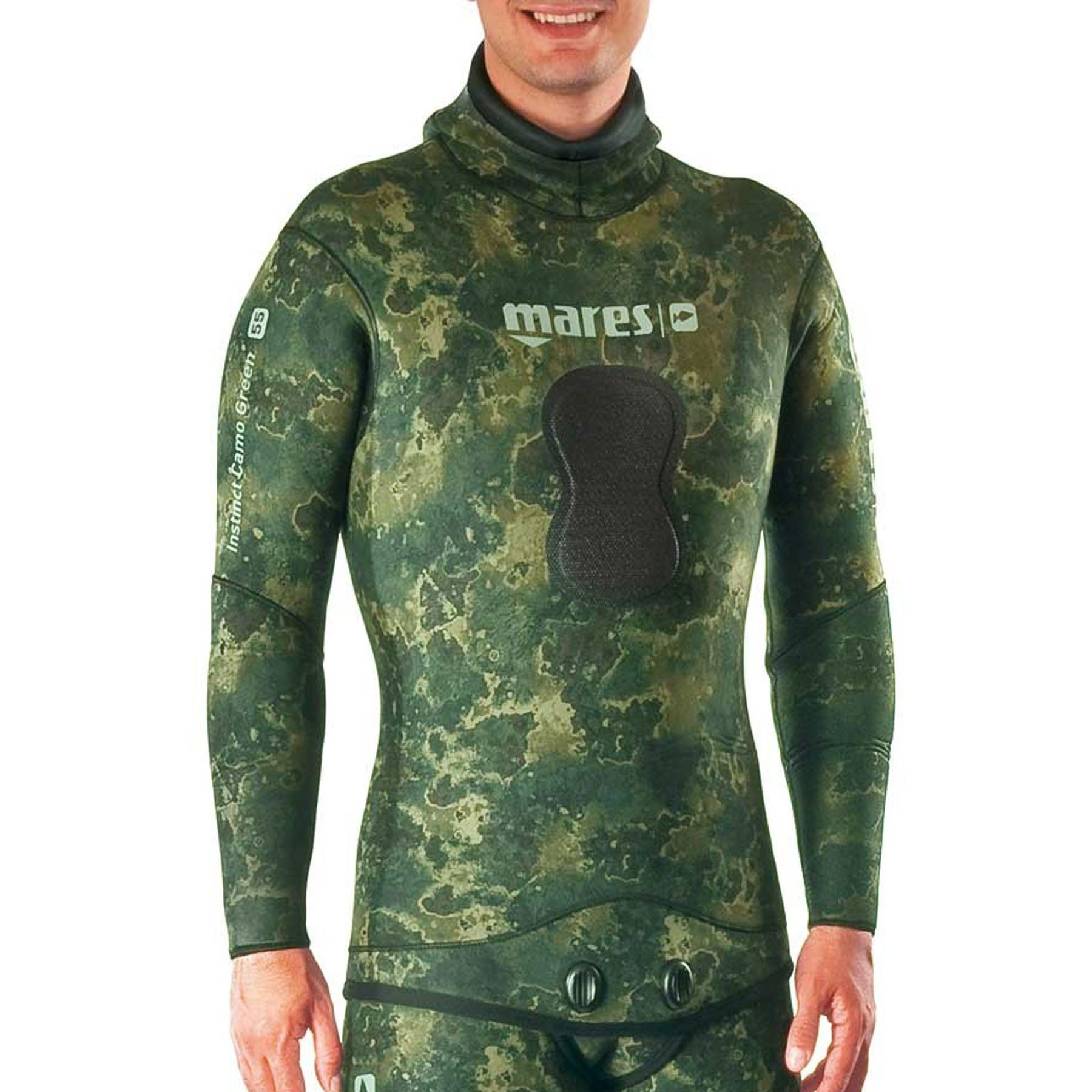 Mares Pure Instinct 5mm Jacket, Green Camo, S2 Small by Mares