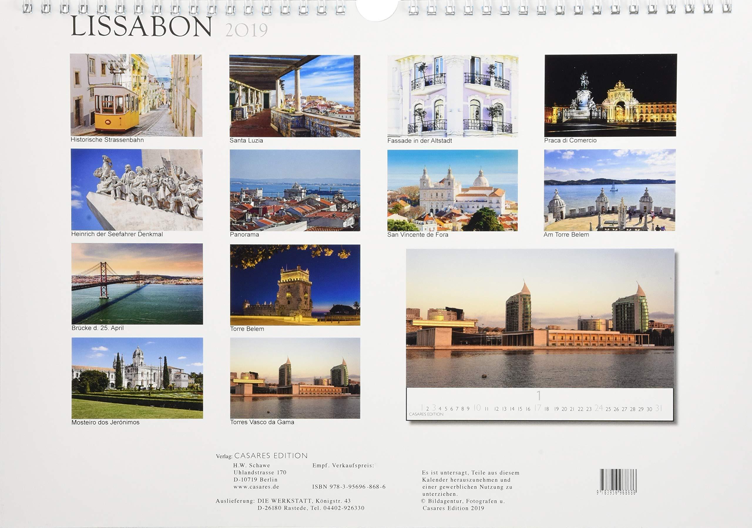 Lissabon 2019 S 35x24cm Kalender – Wandkalender, 1. März 2018 ...