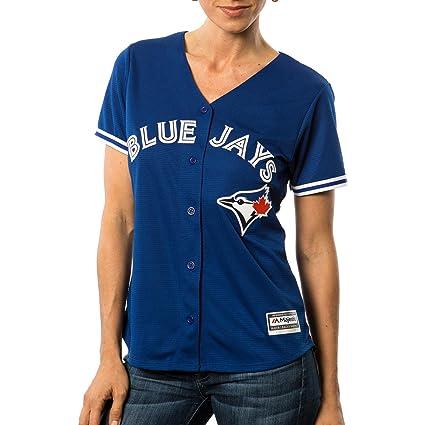 purchase cheap 13db9 a1733 Amazon.com: Toronto Blue Jays Majestic MLB Women's Cool Base ...