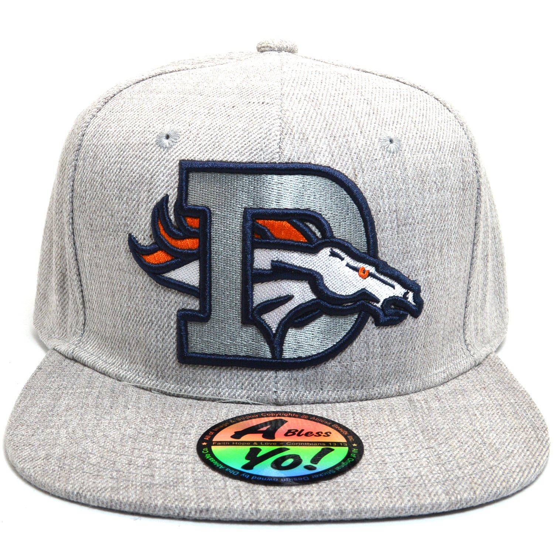d0c79db35 AblessYo D Broncos Flat Snapback Twill Bill Visor Cap Hiphop Baseball Hat  AYO1140