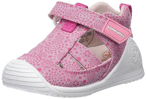 Biomecanics 182124, Zapatillas de Estar por casa para Bebés, Rosa/Puntos (Lona/Estampado) 24 EU: Amazon.es: Zapatos y complementos