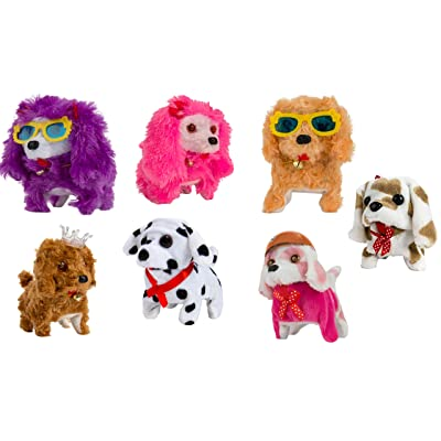 (1 Pack of 7) Walking and Barking Plush Happy Doggy Preschool Collection Holiday Toys: Office Products