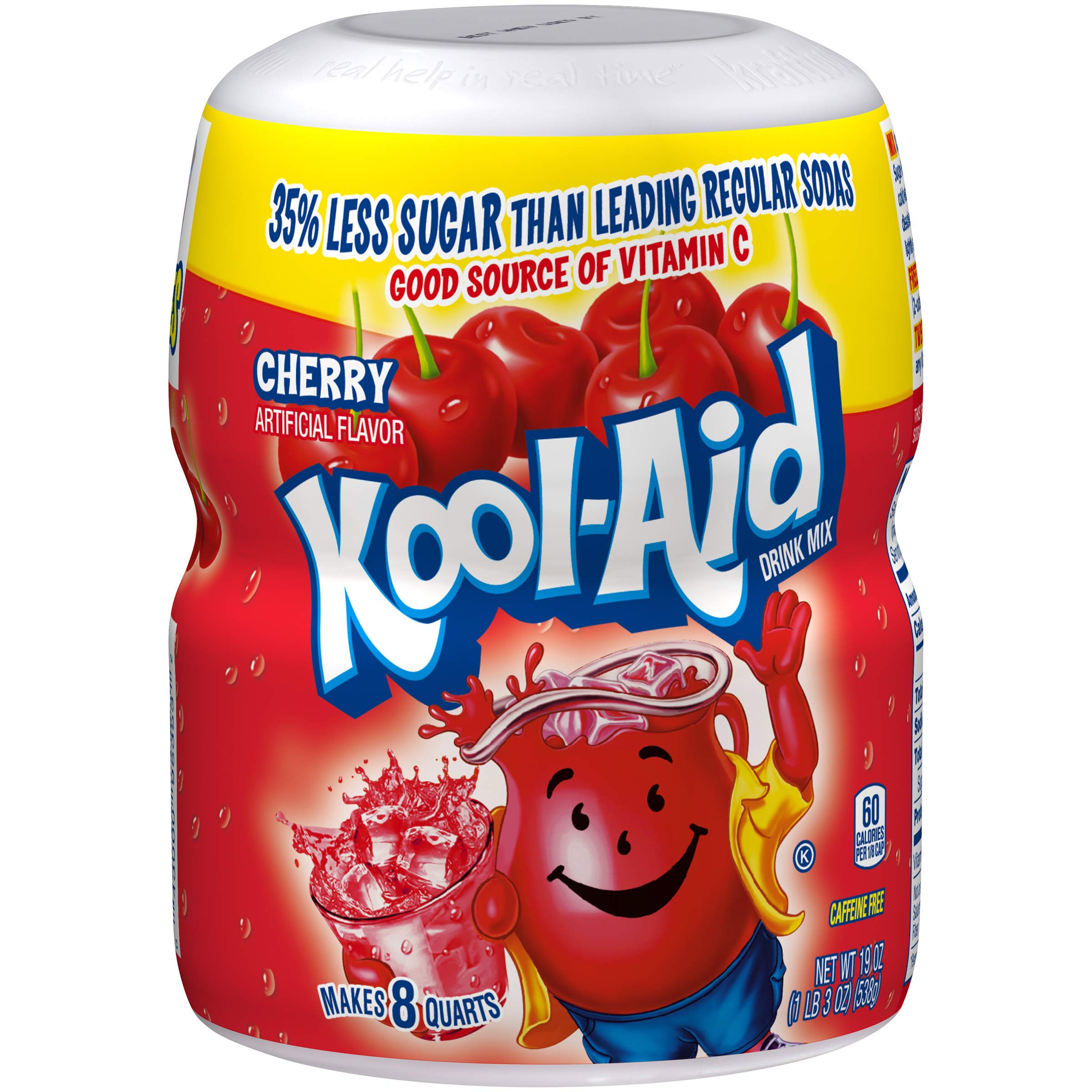 Kool-Aid Snow Day Cherry Drink Mix, 19 Ounce Canister
