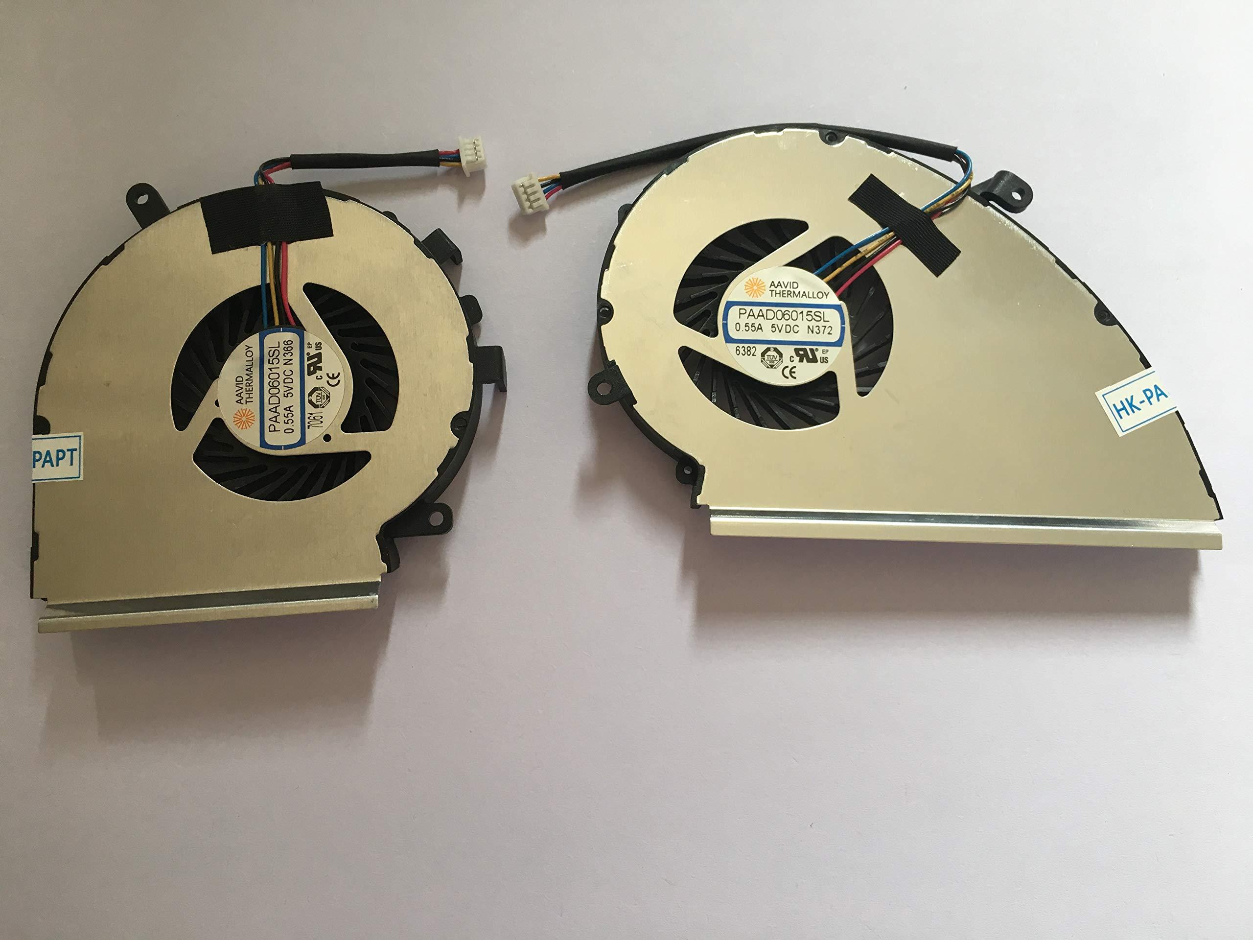 Cooler para MSI GE72VR GP72VR y GPU 4-Pin 2-Fans PAAD06015SL N366 N372
