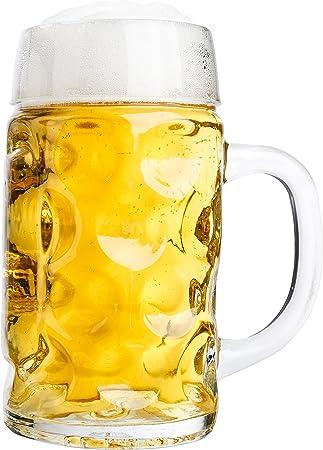 Van Well jarra de medio litro, graduado a 0,5L, jarra de cerveza ...