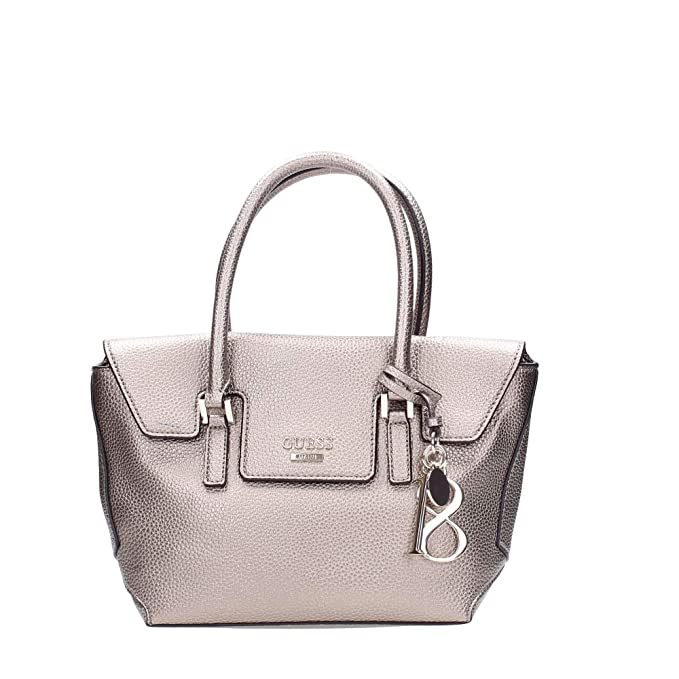 61315fc34a90 Guess WEST SIDE SMALL FLAP SATCHEL PEW PEWTER: Amazon.it: Scarpe e borse