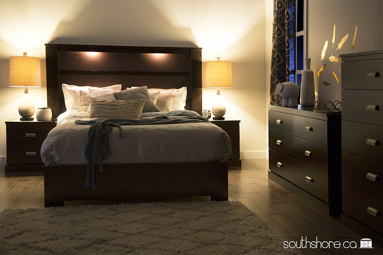 Platform Bedroom Furniture Amazoncom South Shore 60 Inch Gloria Platform Bed Queen