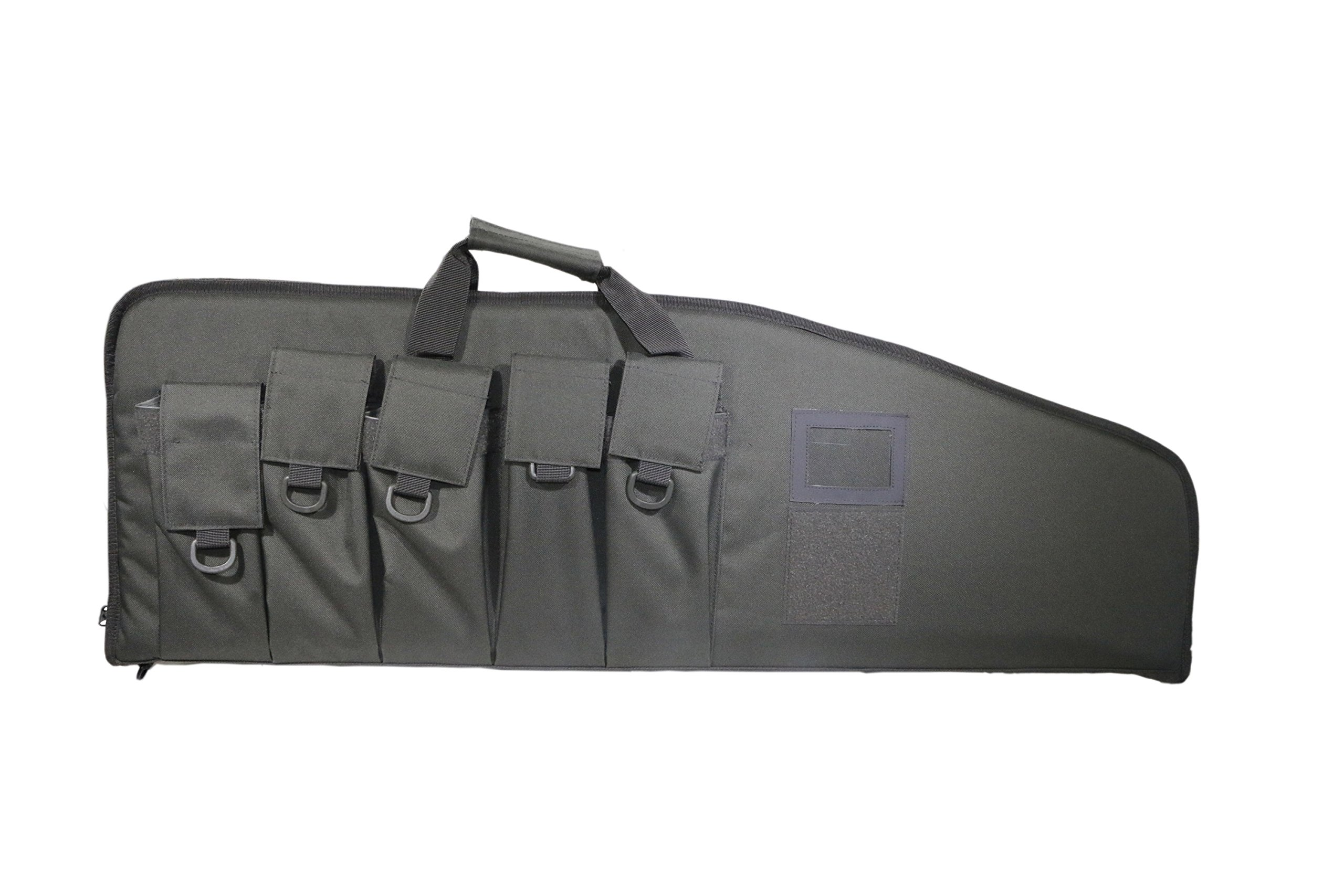 ARMYCAMOUSA Rifle Bag Outdoor Tactical Carbine Cases Water dust Resistant Long Gun Case Bag with Five Magazine Pouches for Hunting Shooting Range Sports Storage and Transport (42'' Grey) by ARMYCAMOUSA