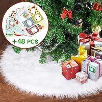 Joyjoz Falda del árbol de Navidad, Falda Blanca