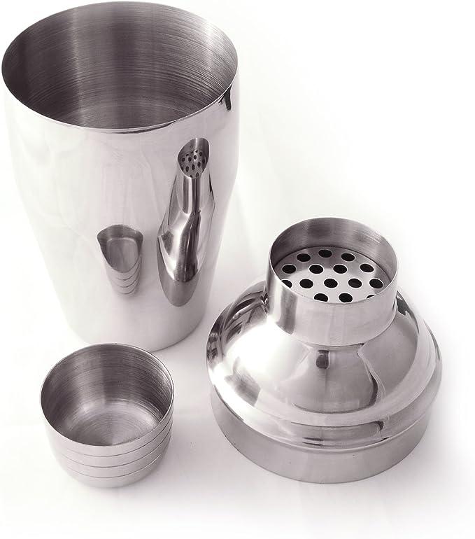 Shaker à cocktail mixeur en acier brossé &acier inoxydable, capacité de 300 ml ganzoo lot de 3 pièces by Ganzoo