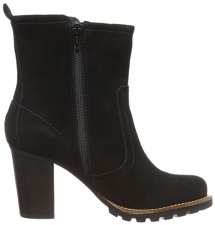 Tommy Hilfiger ISABELLA 5B - Botines al tobillo de cuero para mujer, color negro (black 990), talla 41: Amazon.es: Zapatos y complementos