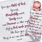 Baptism Gifts for Boys | Baptism Gifts for Baby Girl | Baptism Blanket | Christening Gifts for Girls/Boys | Christian Gifts for Kids | Religious Gifts for Kids | Christening Blanket | Baptism Gift