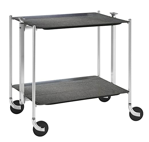 Platex 500250201 - Mesa plegable con ruedas (2 bandejas, 62 x 44 x ...