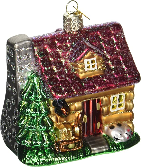 Old World Christmas Home Gifts Glass Blown Ornaments for Christmas Tree,Lake Cabin