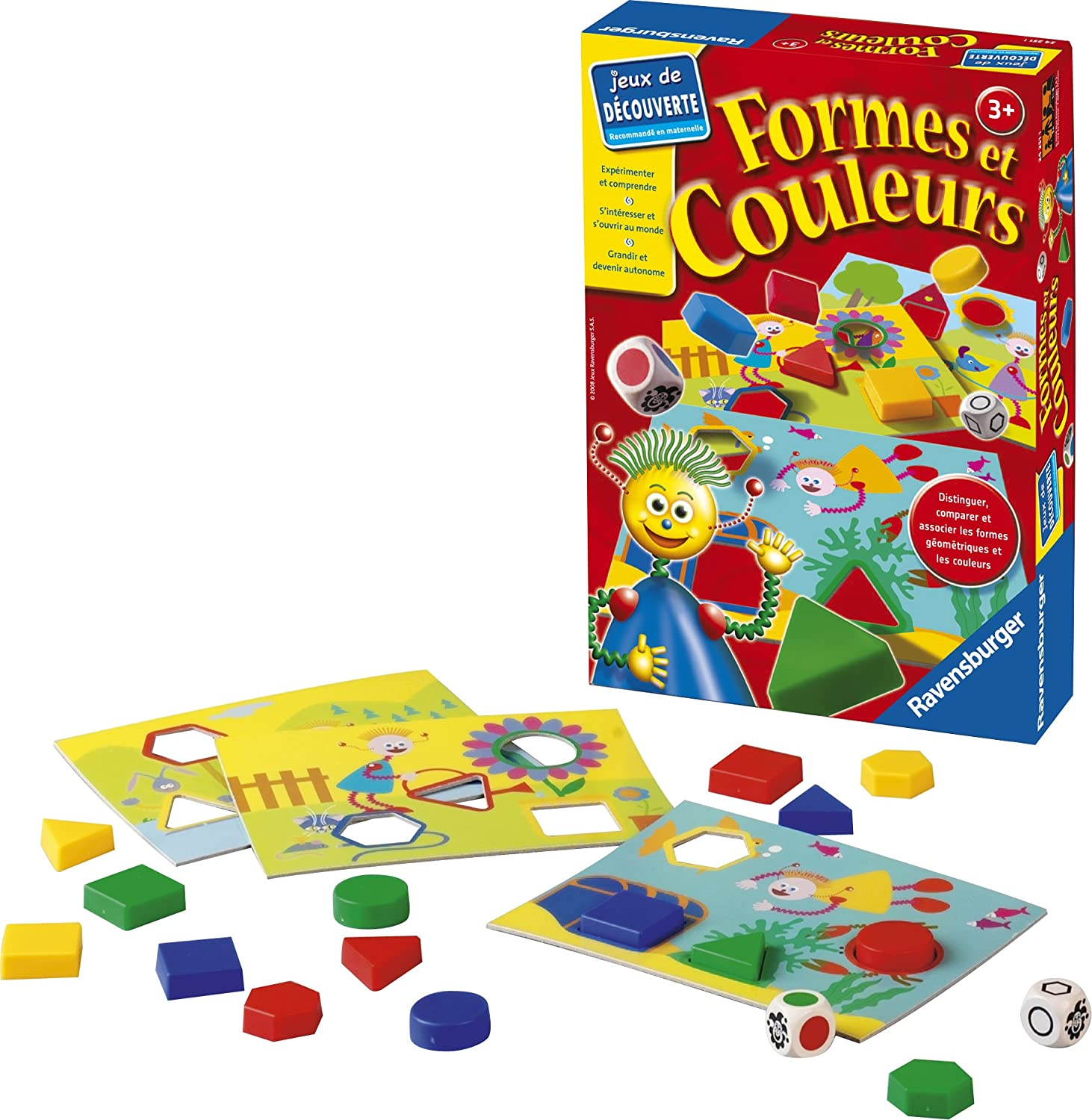 Favori Ravensburger - 24251 - Jeu Educatif - Formes et Couleurs: Amazon  KP58