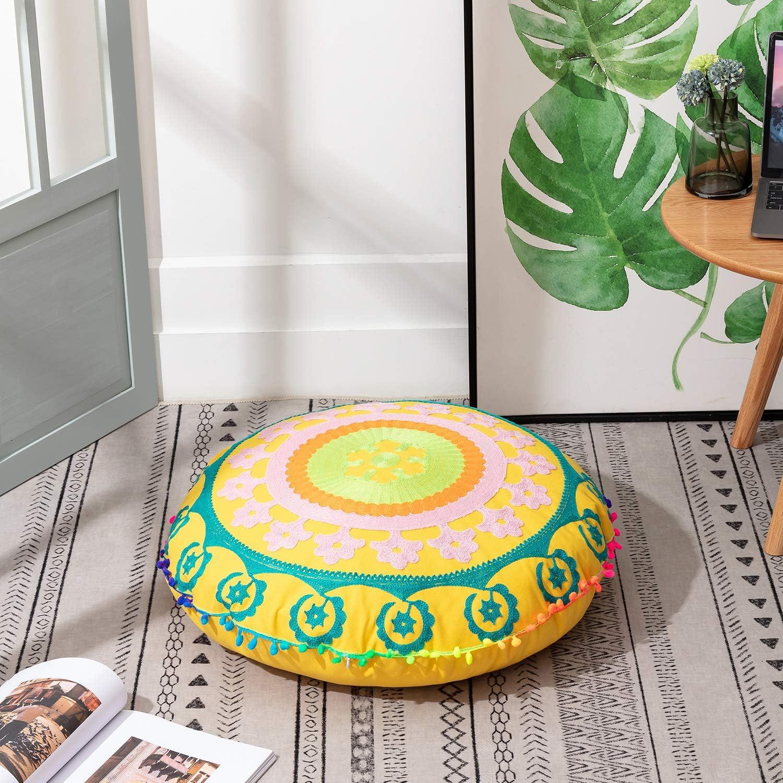 Large Square Floor Pillow Boho Meditation Throw Pillow Cushion Cover Frida Kahlo