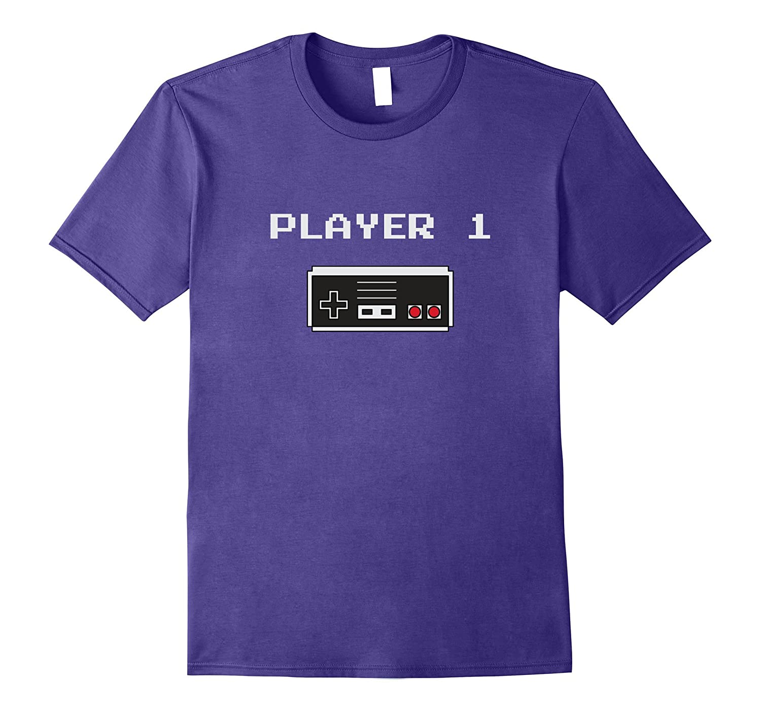 Player 1 buddy Retro style video game T-shirt (Old School)-TH