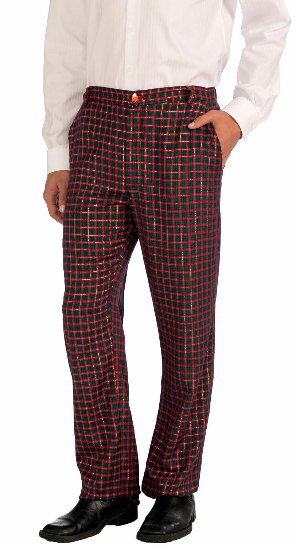 Forum Novelties Men's Plus-Size Plaid Christmas Pants Green/Red X-Large Forum Novelties Costumes 72640XL