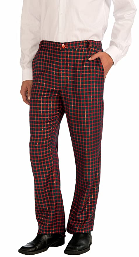 Victorian Men's Costumes: Mad Hatter, Rhet Butler, Willy Wonka Forum Novelties Mens Christmas Plaid Pants Green/Red $24.99 AT vintagedancer.com