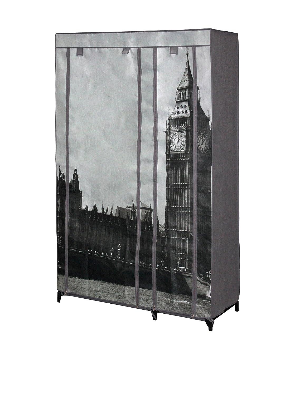 ES OR069L London Pollici con mensola Guardaroba, Colore: Marrone