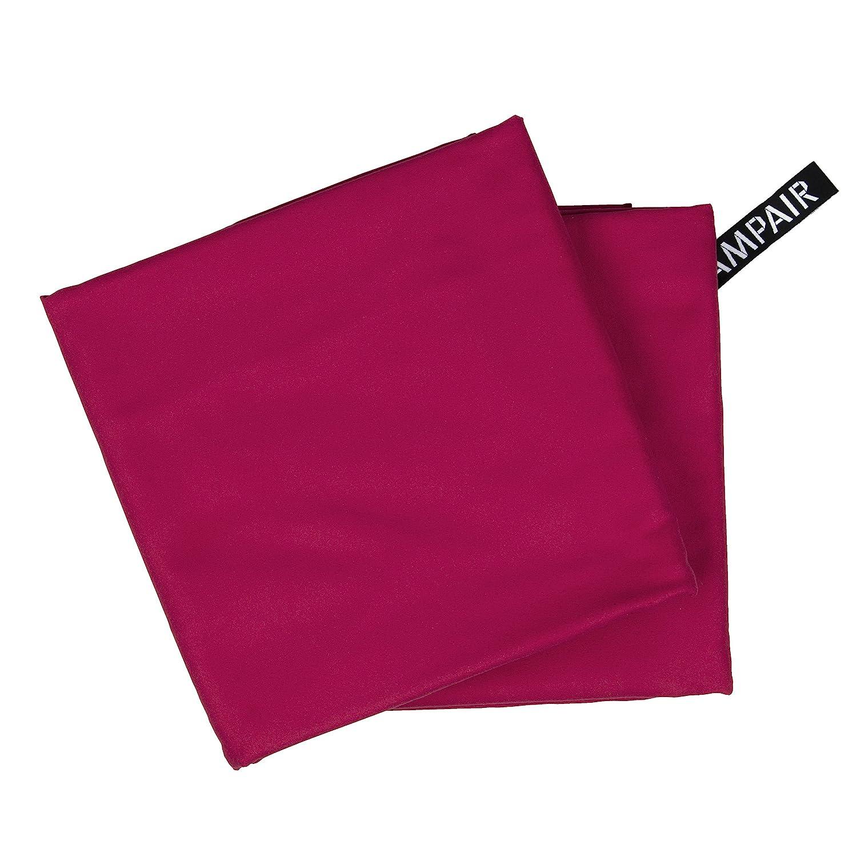 CampAir Conjunto de 2 Toalla de Microfibra con Bolsa de Malla, tamaño XL 90x 180cm, Rojo tamaño XL 90x 180cm skanfriends