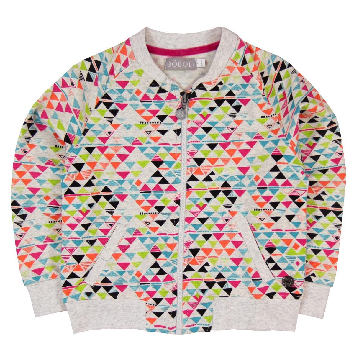 boboli Fleece Jacket For Girl, Sudadera para Niños Mehrfarbig (Print 9446) 24 Meses Bóboli 463137-9446