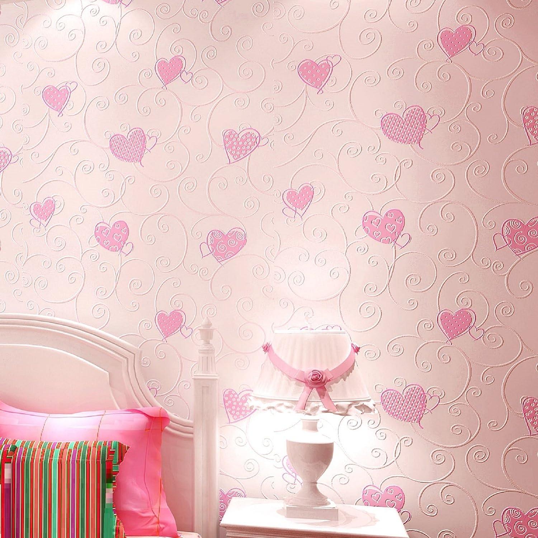 fondos de pantalla en forma de corazón rosa habitación infantil papel pintado