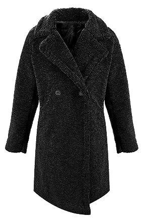 Damen Winter Mantel Jacke Teddy Fleece D 403