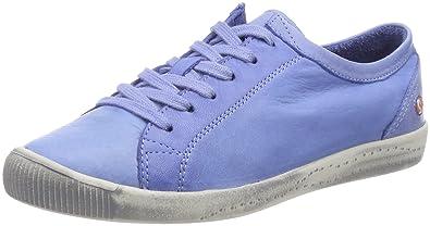 Softinos ICA388SOF Washed, Baskets Femme, Bleu Marine, 42 EU
