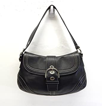 a8d7115b13997 ... closeout coach soho black leather buckle flap small purse handbag  shoulder bag f10909 retail e8fb0 ee099