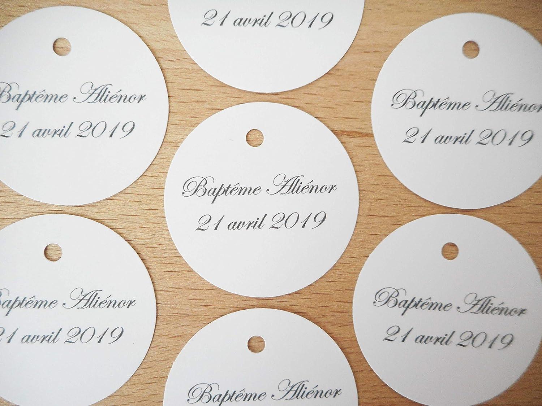 Lot 20 étiquettes papier forme rond 7 coloris papier au choix écriture Edwardian