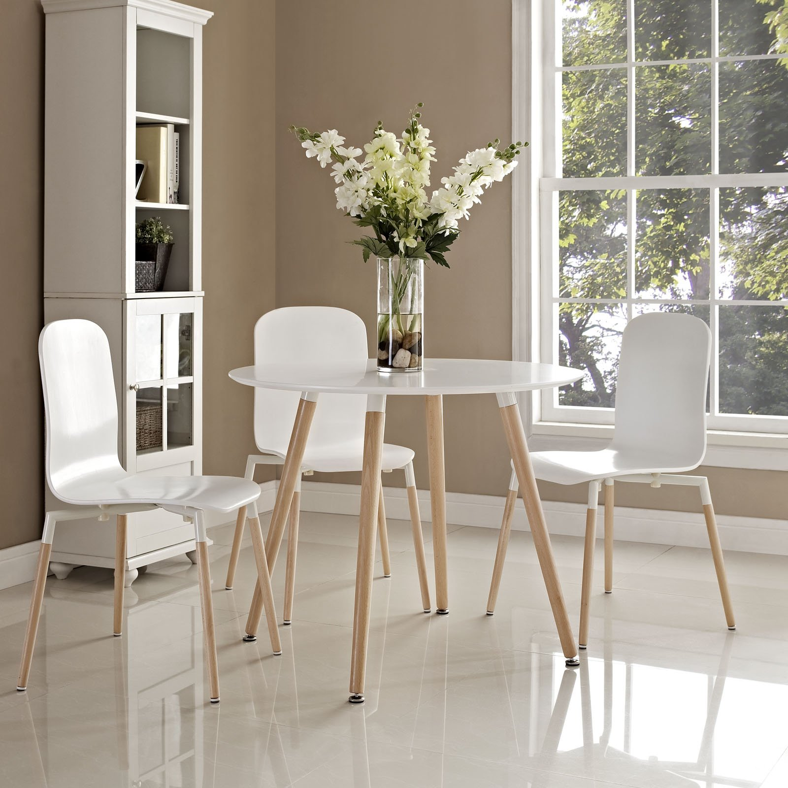 Modway Track Circular Dining Table in White by Modway (Image #4)