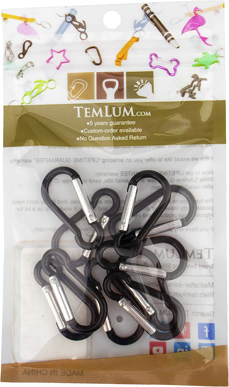 10 Pcs Temlum Aluminum Carabiner 1.6//1.9//2.3//2.7//3.1 Inches Clip Bottle Gourd Shape Carabiners Set Spring Snap Hook for Camping Traveling Hiking Keychains Keyring Outdoor Black