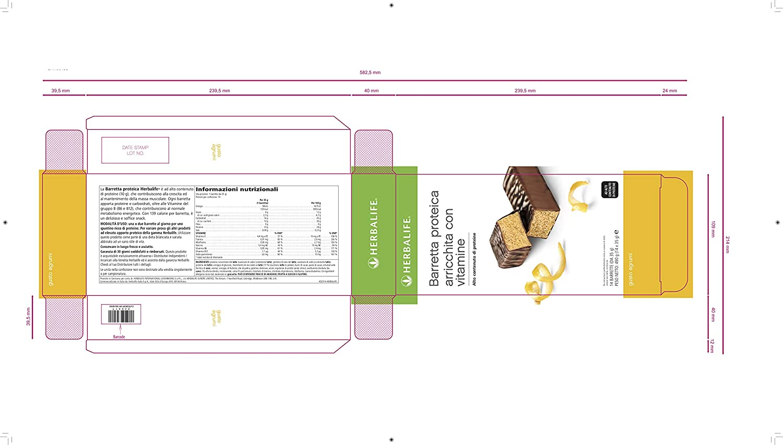 Barritas de proteínas sabor limón Herbalife caja de 14 unidades ...