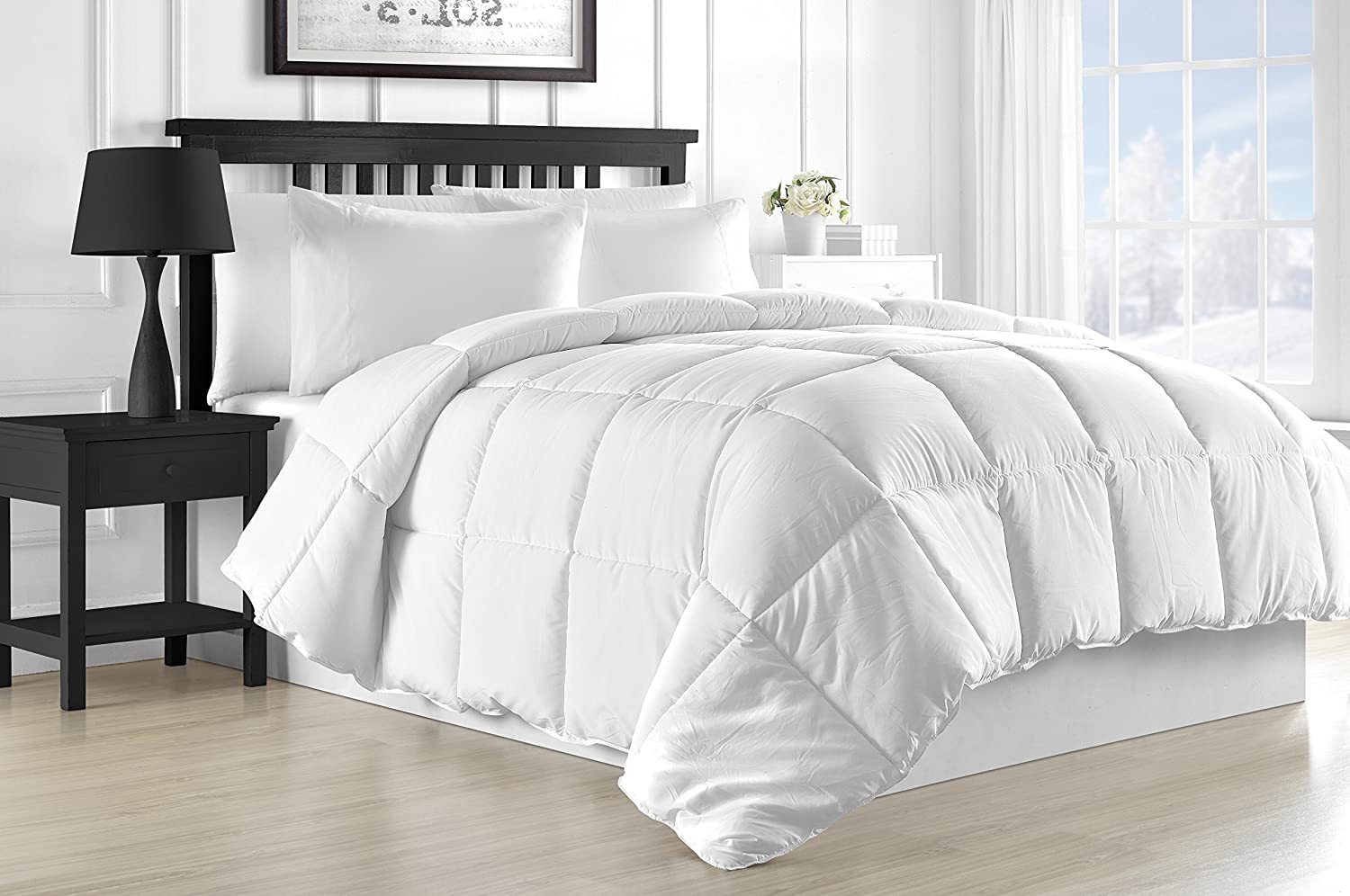 White Luxurious Goose Down Alternative Duvet Comforter
